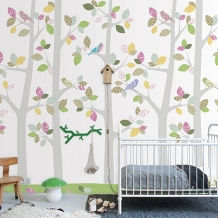 Muurprints van Inke: Bos en Bomen - Inke Wallprint Murals: Forest and Trees