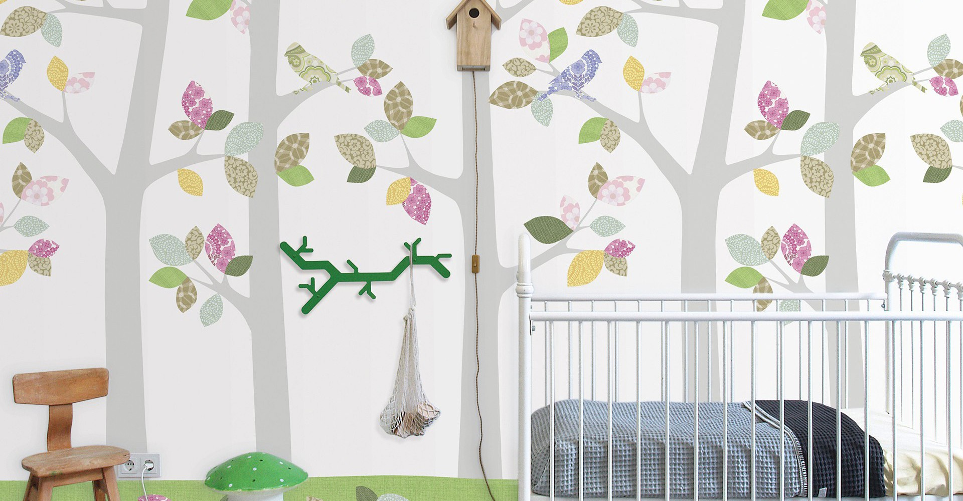 Wall Print for children\'s room, kids room or nursery. Printed on non-woven wallpaper. Designed by Inke Heiland.